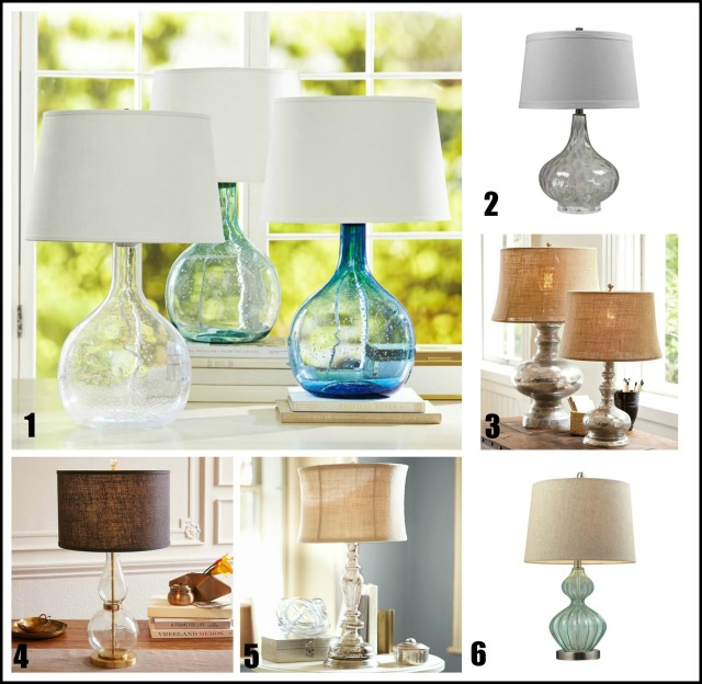 lamp Collage labeled