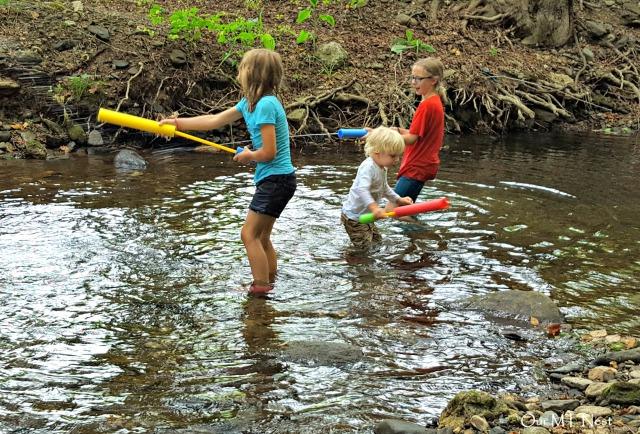 kids in creek ecw